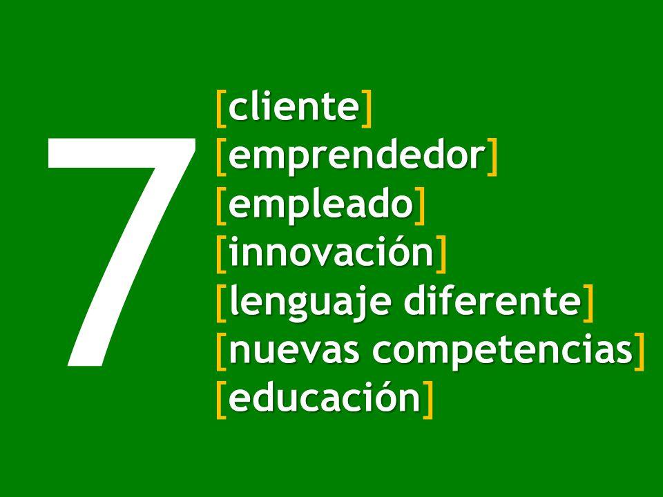 7 [cliente] [emprendedor] [empleado] [innovación] [lenguaje diferente]